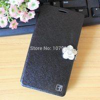 Lenovo S650 Case Luxury Flip Case Cover For Lenovo S650 Diamond Leather Phone Bag For Lenovo S 650 Case Rhinestone Flower Case