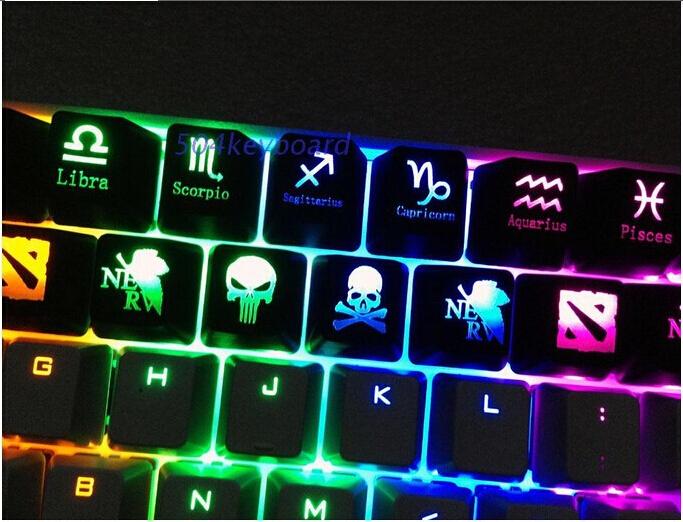 Translucent Keycaps Keycap keypress for backlight Backlit led Mechanical Keyboard dota 2 5pcs/lot(China (Mainland))