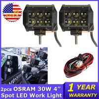 OSRAM 2pcs 4 inch 30W Led Light Bar Car LED Work Light Spot Beam ATV 4x4 Led Bar Offroad Wagon AWD Truck 4WD Pickup SUV DC 9~32V
