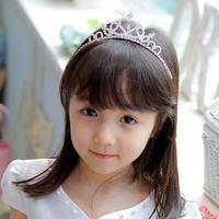 Kids Princess Crown Head Bands Tiara Rhinestone Headband Girl Children Silver Headwear Sticks  Hair Accessories FS2030