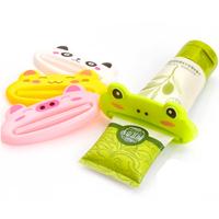 Cute Animal Tooth Paste Bathroom Set Accessories Plastic Dispenser Tube Toothpaste Squeezer YS1001
