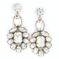 New 2015 Min order $10 Trend fashion hot sale women crystal earrings vintage big statement Earrings
