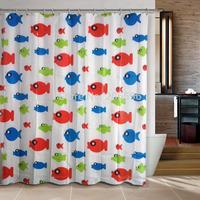 Hot sales Lucky fishes Bathroom curtain shower curtain PEVA bath curtain 180x180cm ,screen shower,curtain bath plasticcortina