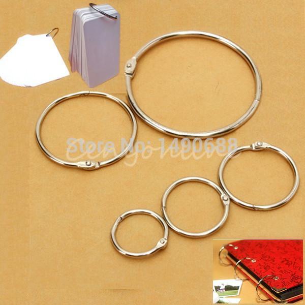 10pcs/lot Metal Split Rings, Ring Binder in Hinged Split Design for Home for Office Scrapbook Crafts Albums Binding book ring(China (Mainland))
