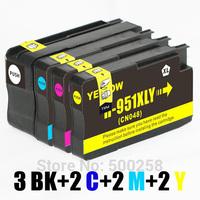 9 ink cartridge (2set+1BK) compatible with HP 950XL  951XL 950 951 for printer Officejet Pro 8610 251dw 276dw