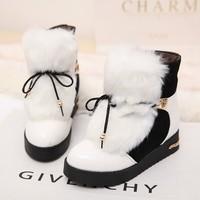 plus size36-40 fashion elegant lady's short boots winter warm fur women ankle charming warm snow boots women winter shoes