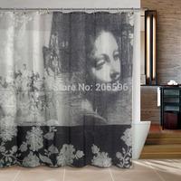 Hot sales Maiden Bathroom curtain shower curtain terylene bath curtain 180x180cm ,screen shower,curtain bath