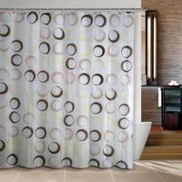 Hot sales Magic Circles Bathroom curtain shower curtain PEVA bath curtain 180x180cm ,screen shower,curtain bath plasticcortina