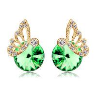 Austrian crystal butterfly earrings female Korean fashion cute ear jewelry sweet wild pendientes zircon earrings