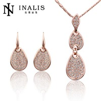 S198 Factory 18K Gold Plated Austrian Crystal Nickel and Lead Free Jewelry Sets For Women Wedding Party