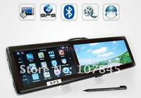 New arrival 4.3 inch car rear view mirror monitor+ gps navigation+ Bluetooth +AVIN +4GB Drop shipping