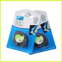2PK compatible Dymo LetraTag Self-Adhesive Paper Tapes 91200 12MM x 4M-1/2inch x13ft. used for dymo label printer labelmaker