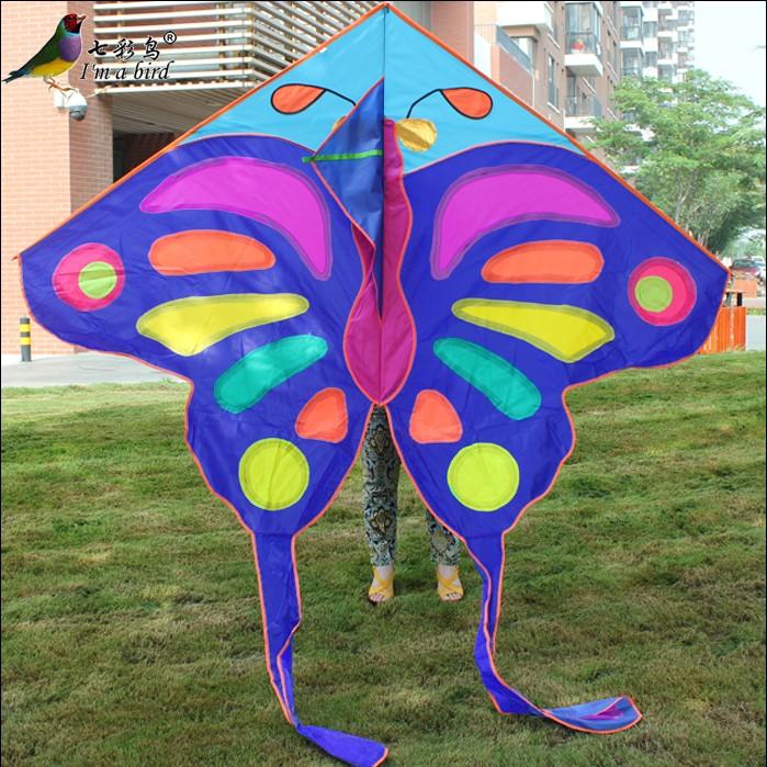 2015 Weifang black blue purple butterfly kite large single line kite size 220cmx260cm(China (Mainland))