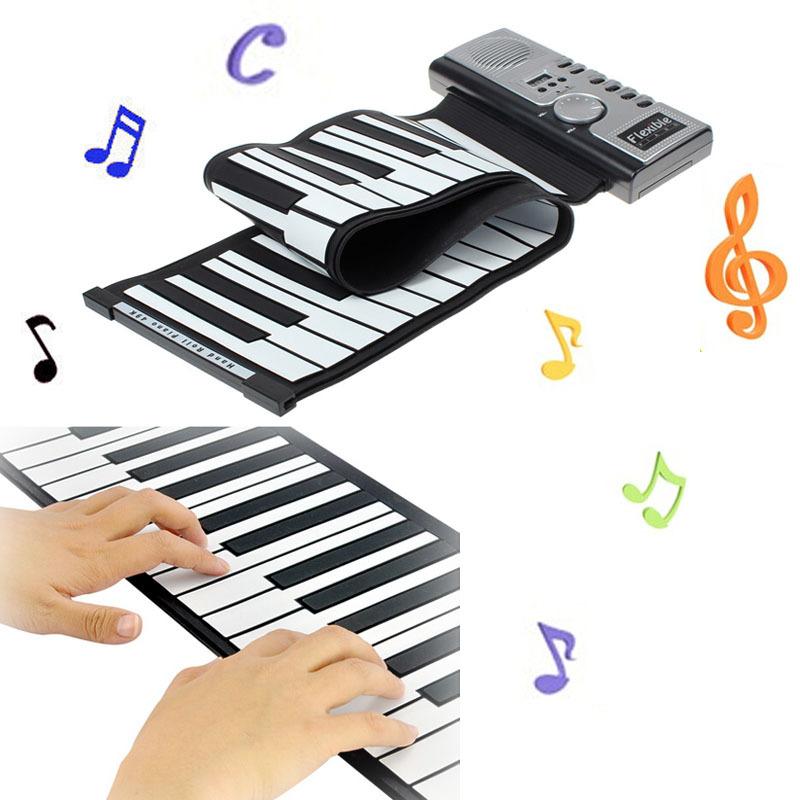 Vocisar High Quality Roll-Up AC Adapter MIDI 49 Soft Key Synthesizer Electronic Piano Keyboard Mic Free Shipping&Wholesales(China (Mainland))