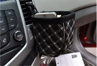 Car Pocket Storage Organizer Bag of car air outlet mobile phone bag carriage bag 1pc