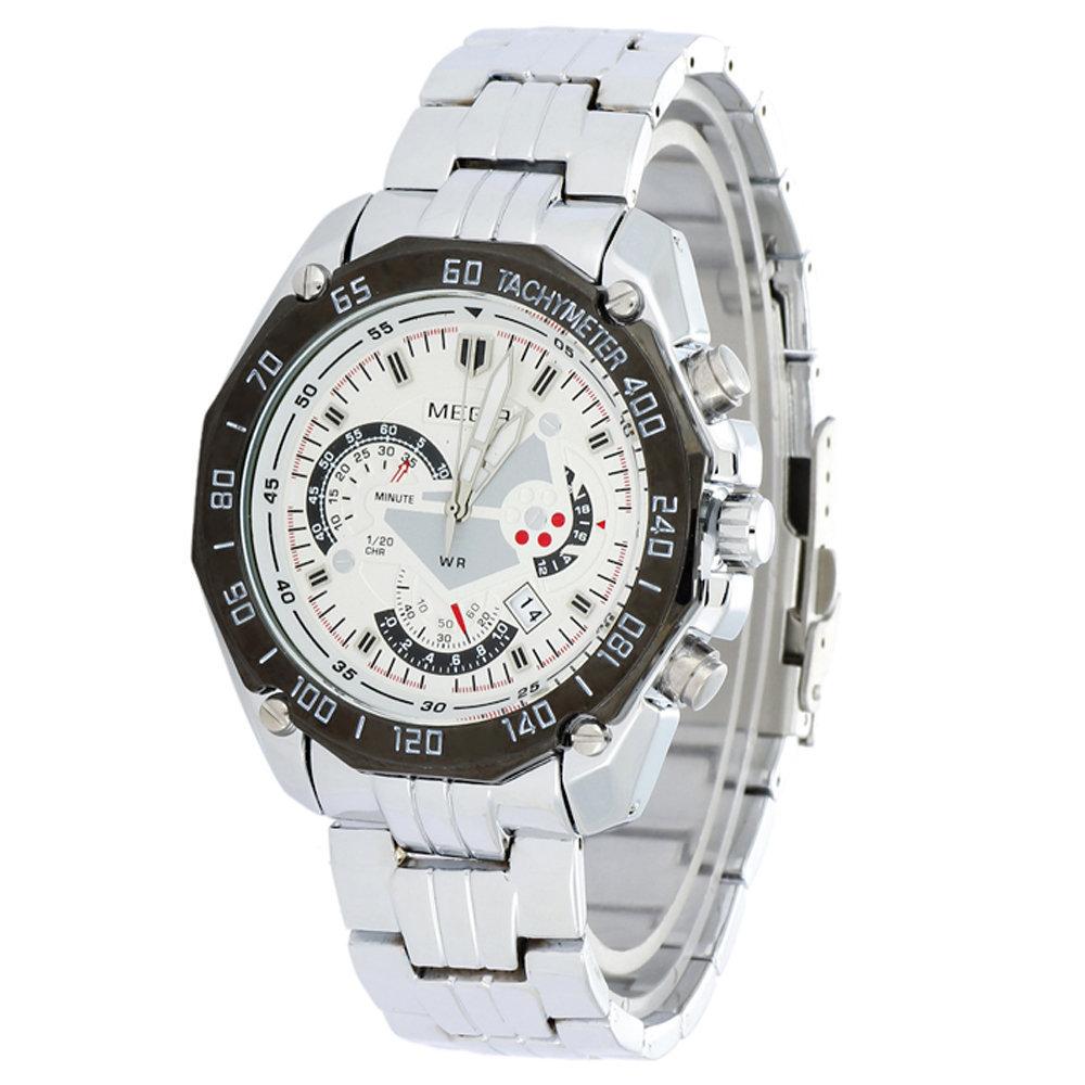 MEGIR European Fashion Jewelry Brand Suppliers Promotions Luxury Casual Men Sport Steel Calendar Quartz Watch