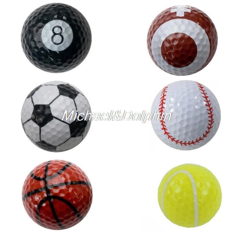 Free Shipping NEW 6pcs PGA TOUR SPORTS GOLF BALLS Two Layer Golf Driving Range Ball practice ball(China (Mainland))