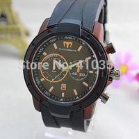 Free Shipping 2015 New Arrival hot sell techno marine Brand quartz watch for men ,Silicone Quartz Men's Watch,5 color