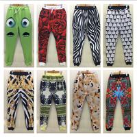 New 2015 Beautiful petals/person/animal print men/women joggers pants sweatpants for men's high quality hip hop 3d trousers