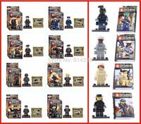 Baby Toys SY260 &SY168 Building Blocks Super Heroes Avengers Minifigures SWAT Minifigures Bricks Toy DIY Bulilding Blocks