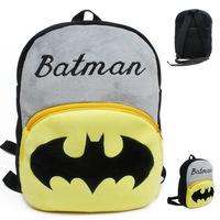 BIG 32*26CM Batman/superman Kindergarten children bags 4-5years old baby cute cartoon school bags backpacks