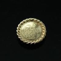 10pc 1''(2.5cm) Western Headstall Round Rope Edge Concho Leather Saddle Tack Belt Gold