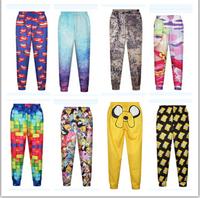 2015 new sports pants fashion digital printing joggers trousers women/girl 3d pants Multicolor Harem pants leisure trousers
