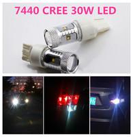 1 PCS New 7440 CREE 30W LED High Power Fog White Lights Daytime Running Bulbs