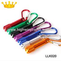 (500pcs/lot) mini led flashlight keychain, mixed colors,free shipping and customized logo on 1 position
