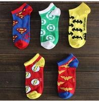 5 Pairs/lot American Film Heroes Cool Cartoon Socks Cotton Short Meias Men's and Women's Sock Hot Sale