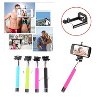 4PCS 4 Color  selfie stick,with grooves on selfie Monopod extendable portrait selfieTripod Handheld for Phone camera/SAMSUNG&IOS