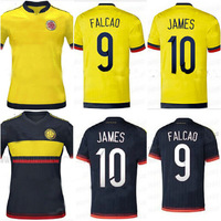 15 16 Colombia home and away soccer football jersey JAMES RAMOS FALCAO best Thailand quality 2015 2016 soccer uniforms