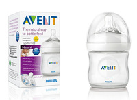 Original AVENT Natural Feeding Bottle with NewbornTeat 0M+ / 4oz 125ml 1 Piece / Pack Brand New