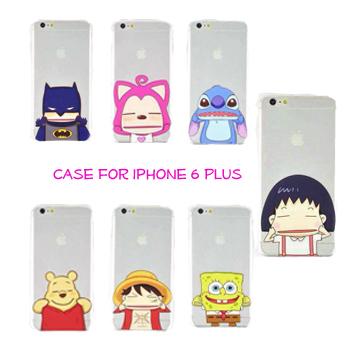 Funny cases crystal Ultra Slim Chi-bi Maruko rilakkuma Pinch Soft TPU Case Cover Coque For Apple iPhone 6 plus 5.5''(China (Mainland))