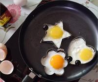 4pcs/lot Stainless Steel Fried Egg Mold Pancake Mold Kitchen Tool Pancake Rings Cooking Egg Mold utensilios de cozinha criativos