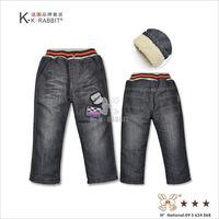 France KK Rabbit children's jeans wholesale children'd thick pants SL1313