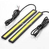 2 pcs / Set Waterproof Aluminum High Power 6W 6000K Xenon Slim COB LED DRL Daylight Driving Daytime Running Light Lamp