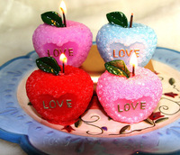 10pcs Pink/Red/Blue/Purple Rose Love Apple Candle For Wedding Party Birthday Baby Shower Souvenirs Gifts Favor NEW ARRIVAL