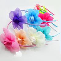 Girls Sweet Flower Headband Hair Accessories Baby Children Hair Clip Acessorios Para Cabelo Princess Hairband FS2034
