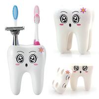 Cartoon Cute 4 Hole Toothbrush Holder Fashion Acessorios Para Banheiro Bracket Container Bathroom Accessories Set YS1003