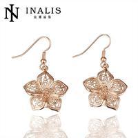 E058 Graceful Bijoux Tassel Dangle Golden Earrings Big Drop Earrings Austrian Crystal Statement Christmas Gift For Women