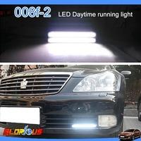 100% Waterproof  2pcs/Lot  COB Lights DRL LED Car Daytime Running Light Head Lamp White