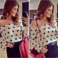 kimono real hollow out regular 2015 new spring fashion women blouse shirt loose fit sleeve blusas femininas gauze heart print