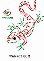Free ship!30pc!Lizard design heat transfer rhinestone motif DIY motifs rhinestones WAN203