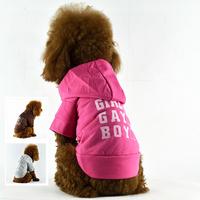 Dog Hoodies Pet Coats Leisure Cotton Pet T-shirt Printing Summer Clothes Wholesale Spring Autumn Size XS S M L XL XXL Hot Sales