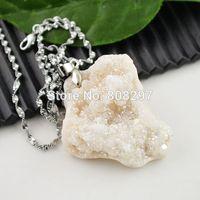 Wholesale! 8pcs Natural Druzy Drusy Quartz Stone Charms Pendant For Necklace