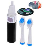 Free shipping 2015 Hot Sale Fashionable Ultrasonic Electric Toothbrush With 2 Brush Heads Oral Hygiene Tooth Brush