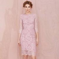 2015 Women Summer Dress Bodycon Lace Transparent  Backless Hollow Out Dress Vintage Elegent Mini Dress For Women Female 1412311