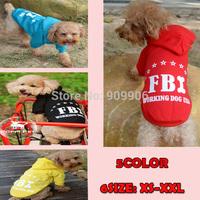 New Arrival Dog Coat FBI Sweater Hoodies Pet Jacket Puppy Costume Sport Warm Apparel Clothes