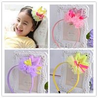 Top Quality Party Girl Tiara Headband Glitter  bow Hairband kids Princess Head Wear Fashion Cute Headband Wearsories P5